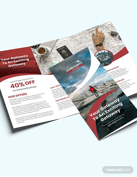 Sample Travel Trifold Brochure