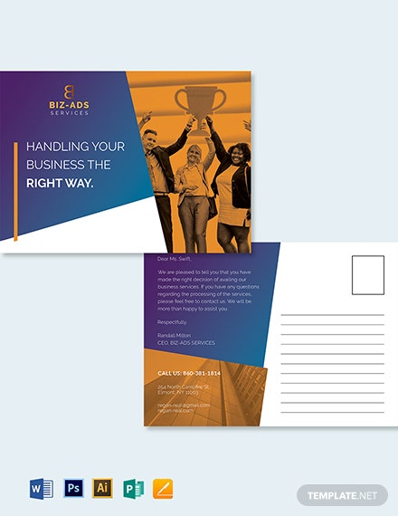 Business Services Postcard Template