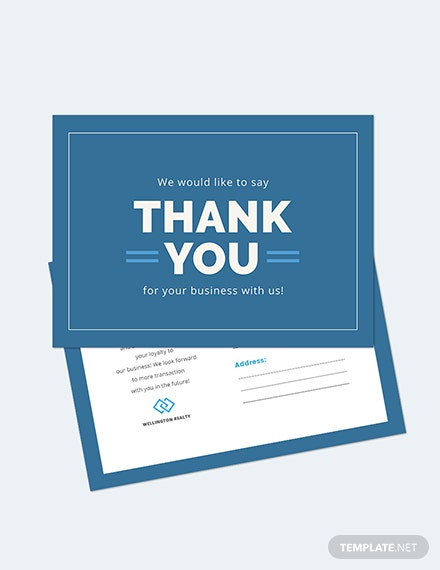 Business Thank You Postcard Download