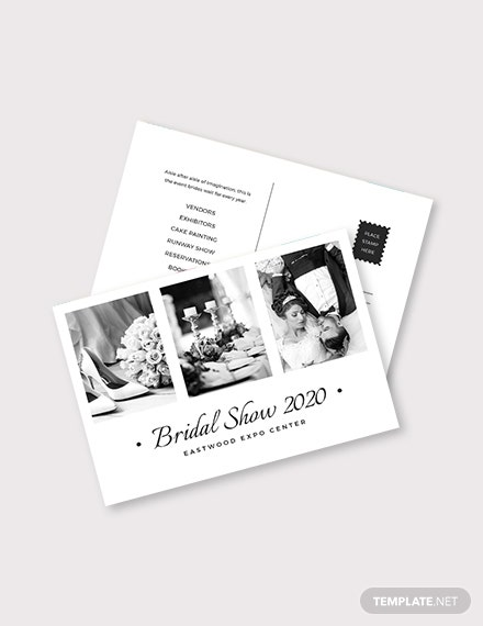 Wedding Planner Postcard Template