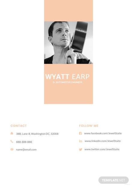 free best fashion cv template in adobe photoshop