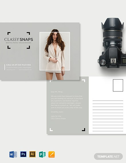 Photographer Postcard Template
