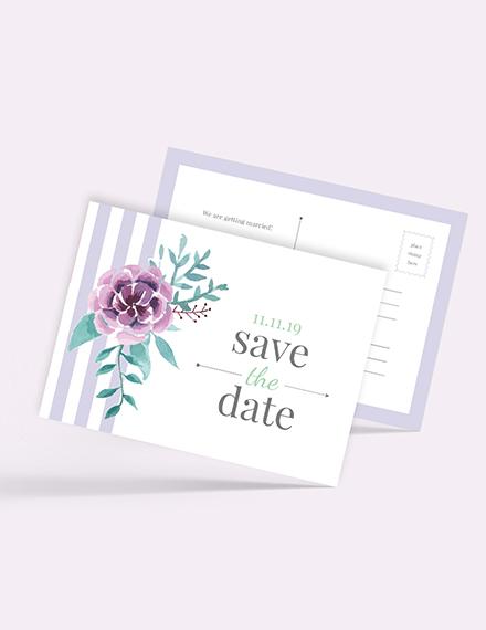 Sample Save The Date Invitation Postcard