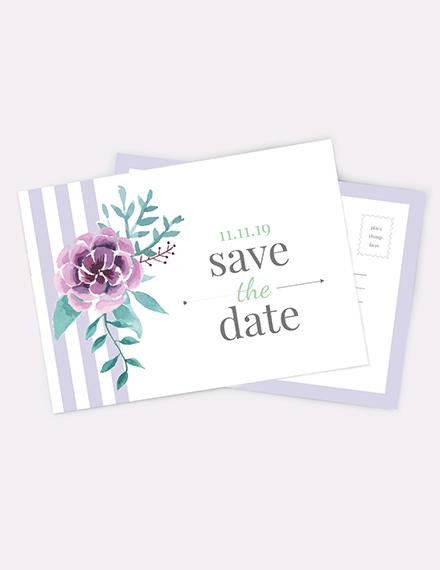 Save The Date Invitation Postcard Download