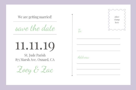 Save The Date Invitation Postcard Template 1.jpe