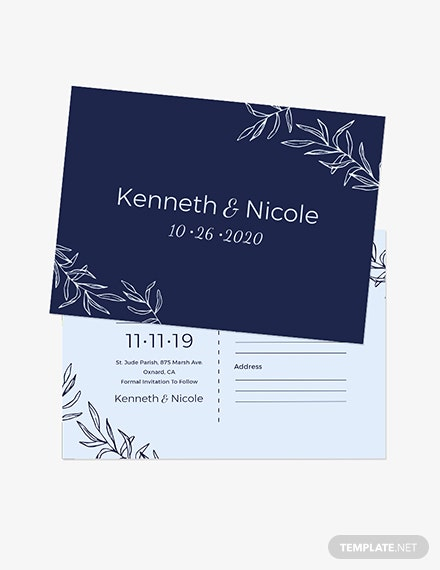 Wedding Save The Date Postcard Download