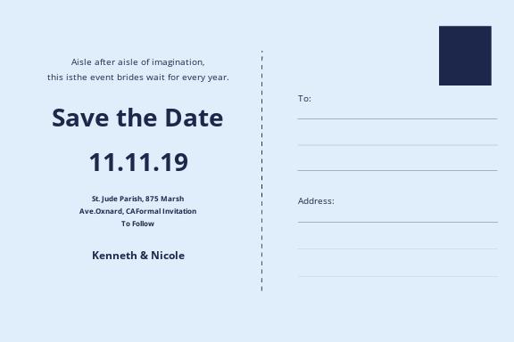 Wedding Save The Date Postcard Template 1.jpe