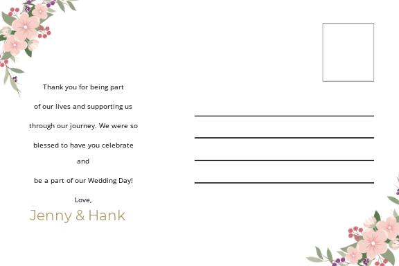 Wedding Thank You Postcard Template 1.jpe
