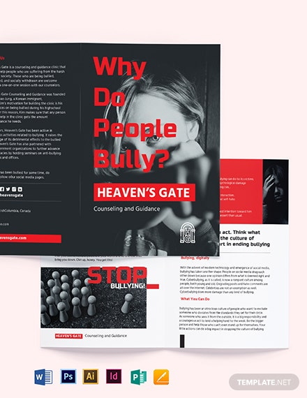 Bullying Bi-Fold Brochure Template