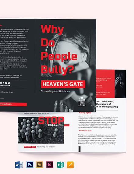 Bullying Bi-Fold Brochure Template