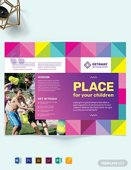 Camp Bi-Fold Brochure Template