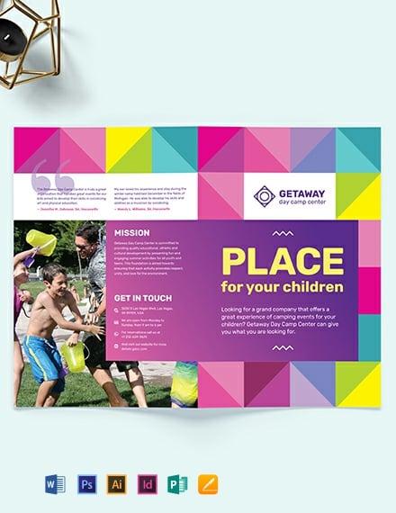 Camp BiFold Brochure Template
