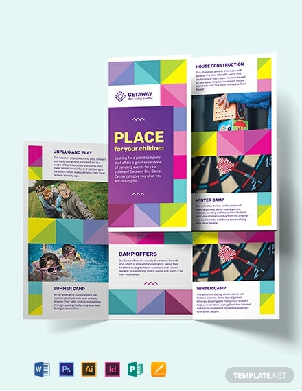 Camp Tri-Fold Brochure Template