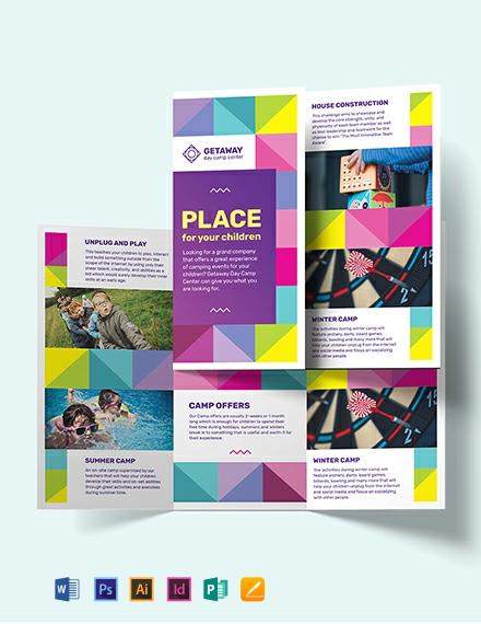 Camp Tri-Fold Brochure Template