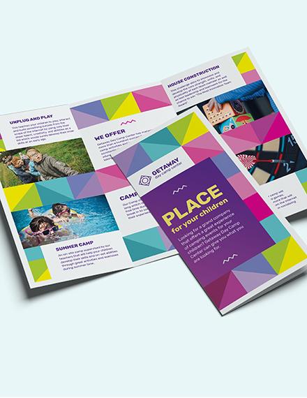 Sample Camp TriFold Brochure