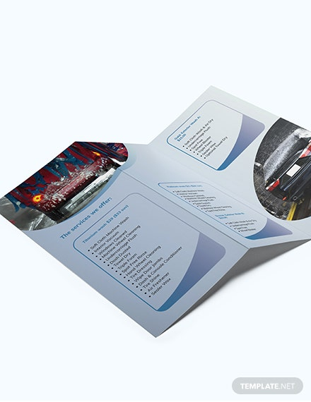 Car Wash TriFold Brochure Download
