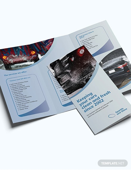 Sample Car Wash TriFold Brochure