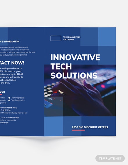 Sample Computer Service BiFold Brochure