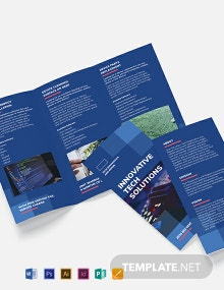 Computer Service Tri-Fold Brochure Template