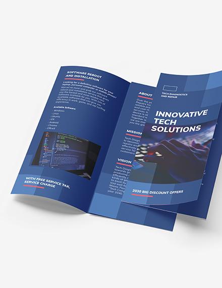 Computer Service TriFold Brochure Downloadd
