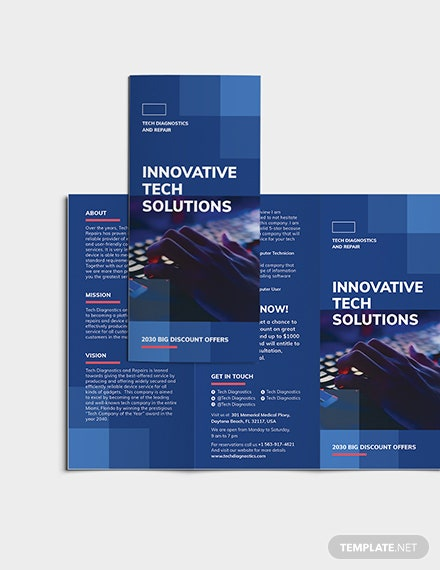 Sample Computer Service TriFold Brochure