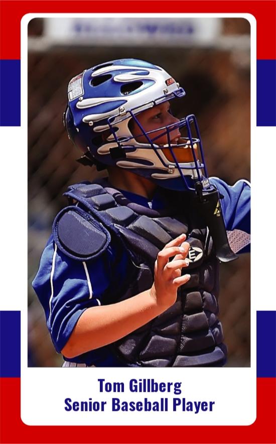 Free Senior Baseball Trading Card Template