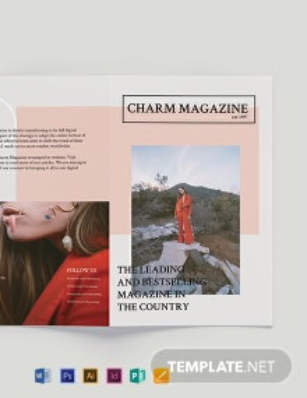 Magazine Bi-Fold Brochure Template