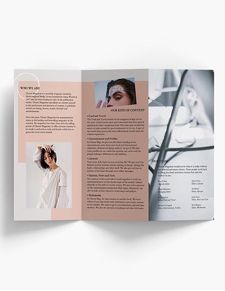 Editable Magazine TriFold Brochure