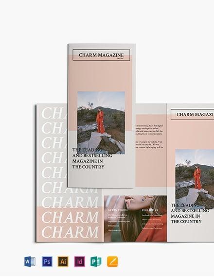 Magazine Tri-Fold Brochure Template