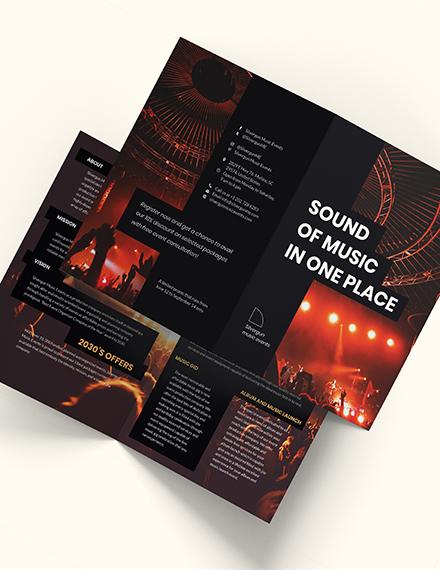Music Event BiFold Brochure Download