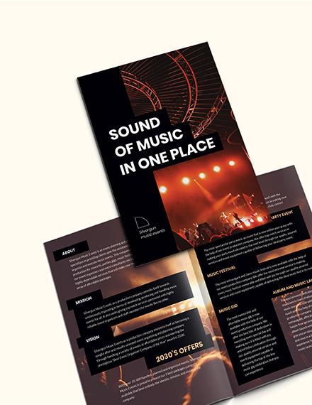 Sample Music Event BiFold Brochure