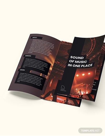 Music Event TriFold Brochure Download