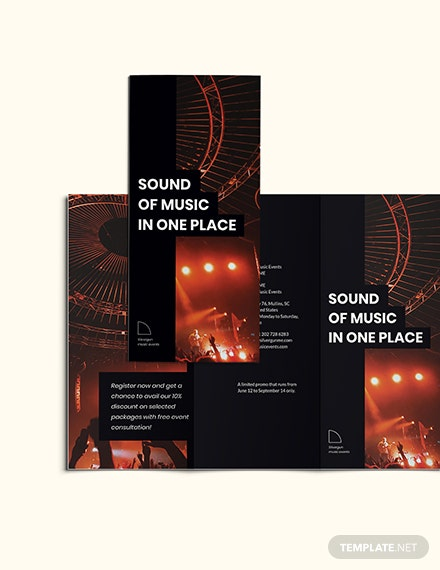 Sample Music Event TriFold Brochure