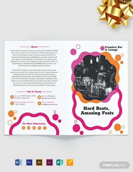Party Bi-Fold Brochure Template