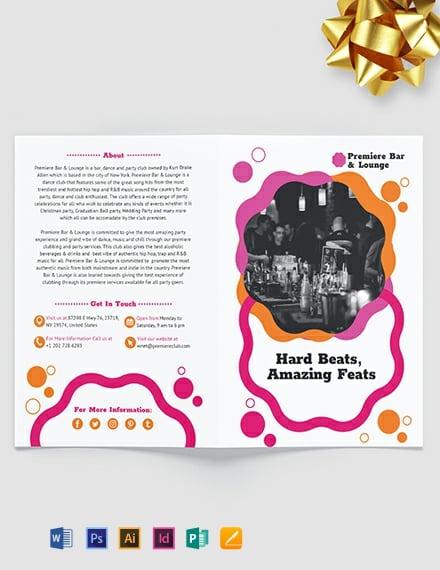 Party Bi-Fold Brochure Template
