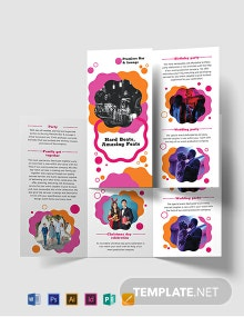 Party Tri-Fold Brochure Template