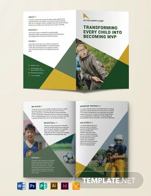 Sports Camp Bi-Fold Brochure Template