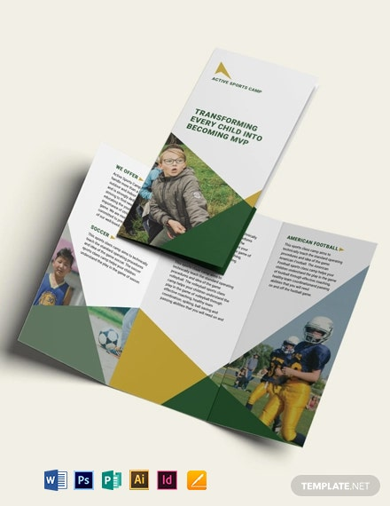 Sports Camp TriFold Brochure Template