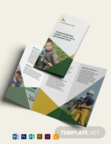 Sports Camp Tri-Fold Brochure Template