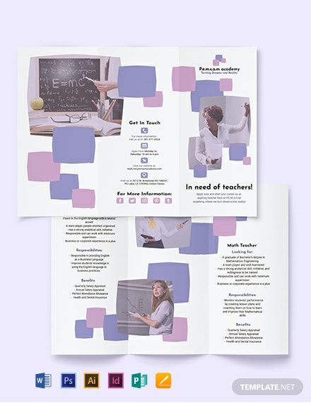 Teacher Tri-Fold Brochure Template