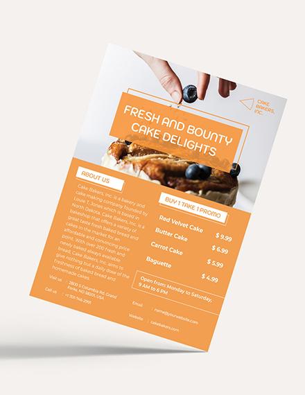 Bakery Cake Shop Flyer Download