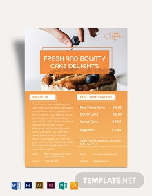 Bakery Cake Shop Flyer Template