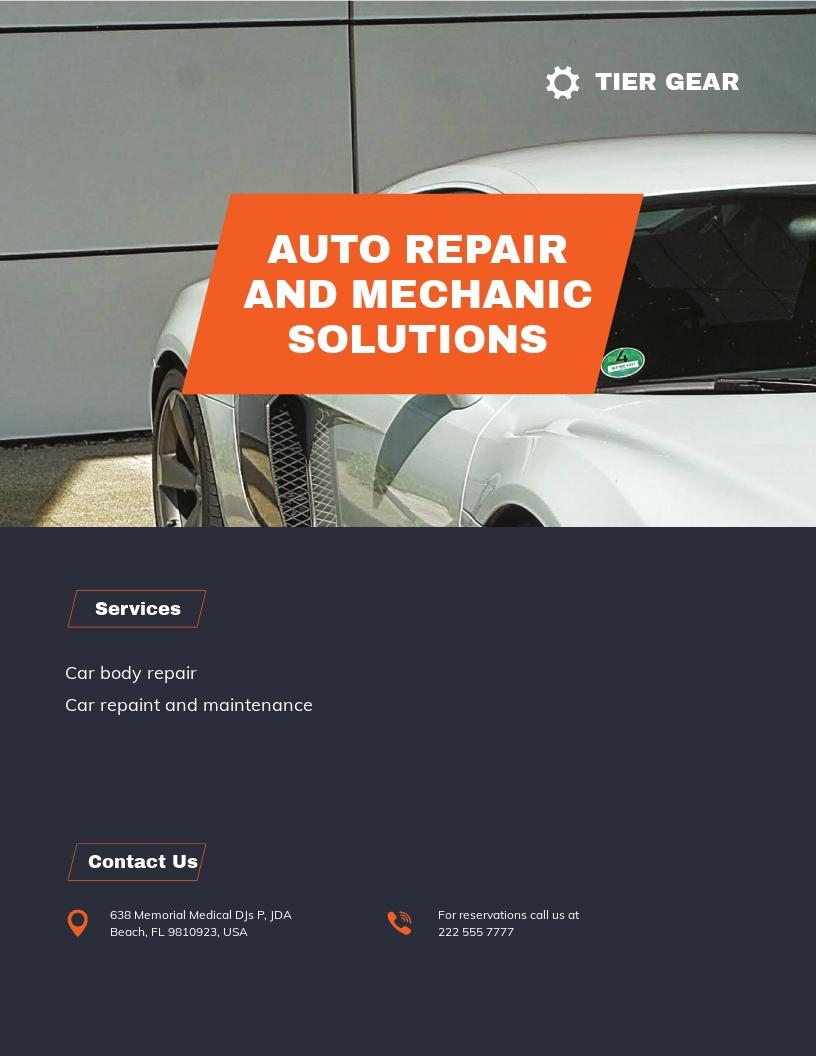 Auto Mechanic Flyer Template.jpe