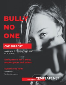 Bullying Flyer Template