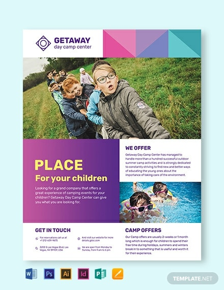 camp flyer template 440x570 1