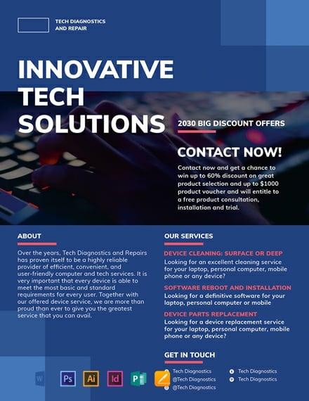computer service flyer template 440x570 1
