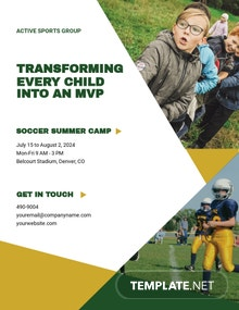 Sports Camp Flyer Template