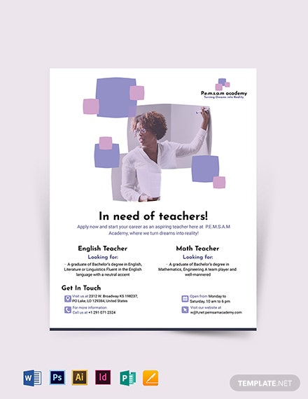 Teacher Flyer Template