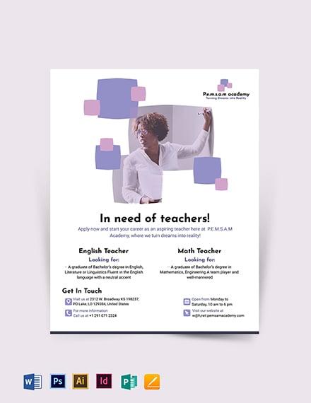 Teacher Flyer Template