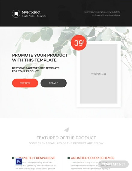 FREE Single Product Ecommerce Website Template: Download 162+